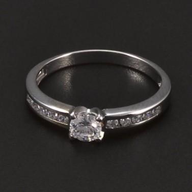 Stříbrný prsten se zirkony 6543 č.1
