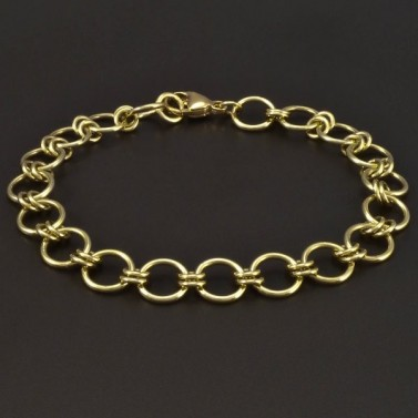Zlatý náramek s velkými oky 6547 č.1