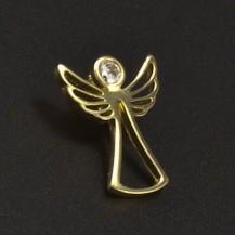 Zlatý přívěsek anděl se zirkonem 6567