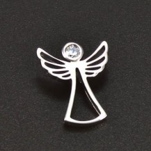 Stříbrný přívěsek anděl s bílým zirkonem 6580