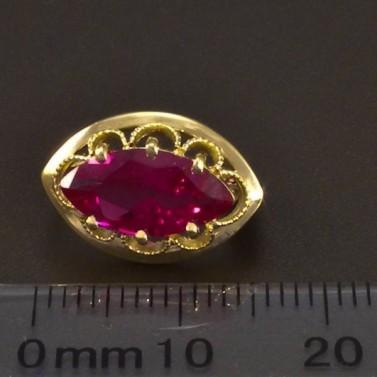 Elegantní zlaté rubínové náušnice 6639 č.3