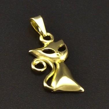Zlatý přívěsek kočka 6669 č.1
