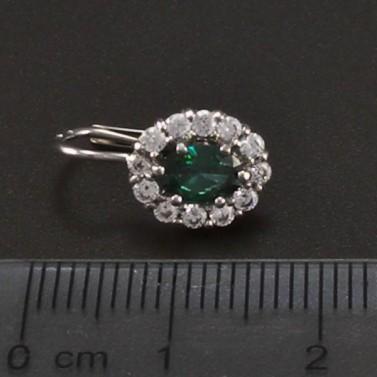 Náušnice z bílého zlata se smaragdem 6673 č.3