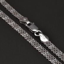 Stříbrný rhodiovaný náhrdelník 6714