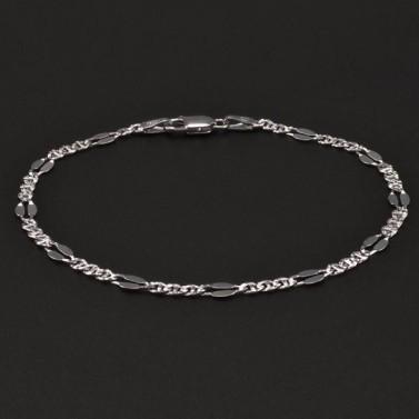 Stříbrný rhodiovaný náramek 6716 č.1
