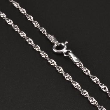 Stříbrný rhodiovaný řetízek 6719 č.1