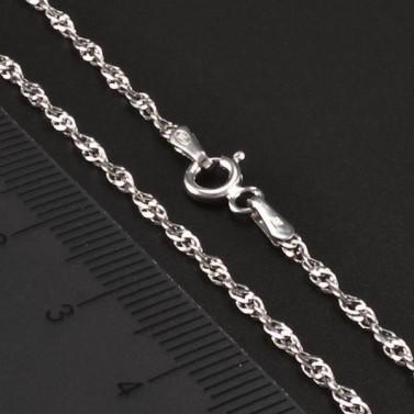 Stříbrný rhodiovaný řetízek 6719 č.2