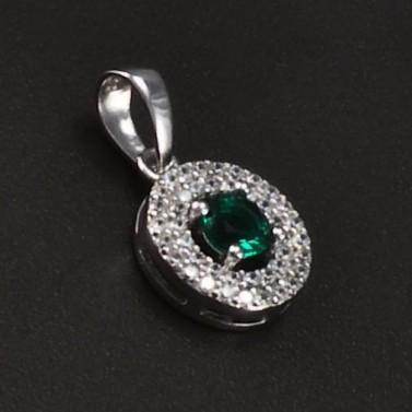 Stříbrný přívěsek se smaragdem 6752 č.1