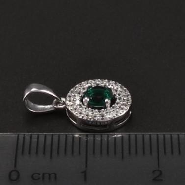 Stříbrný přívěsek se smaragdem 6752 č.2