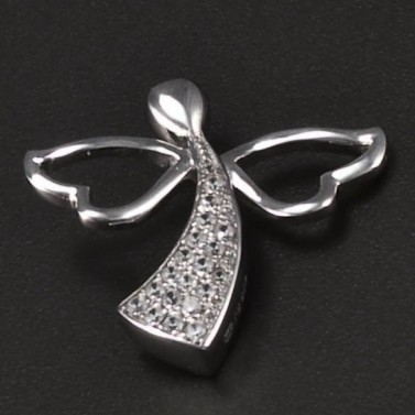 Stříbrný anděl rhodiovaný přívěsek 6764 č.1