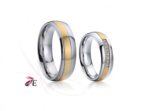 Ocelové snubní prsteny 020 Brad a Angelina č.1