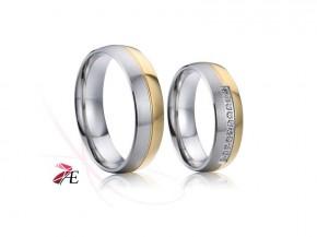 Chirurgická ocel snubní prsteny 6868