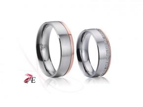 Snubní prsteny z chirurgické oceli 024 Orfeus a Euridika