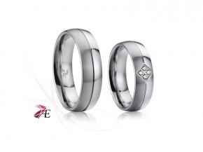 Prsteny snubní chirurgická ocel 6870