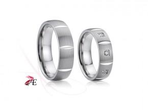 Snubní prsteny chirurgická ocel 026 Vilém a Jarmila