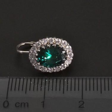 Zlaté náušnice se smaragdem oválný tvar 6913 č.3