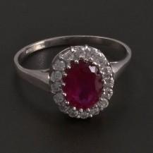 zlatý prsten oválný rubín 6916