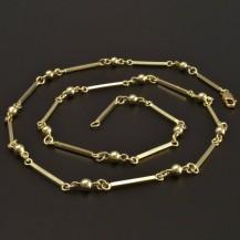 Zlatý článkový náhrdelník 6974