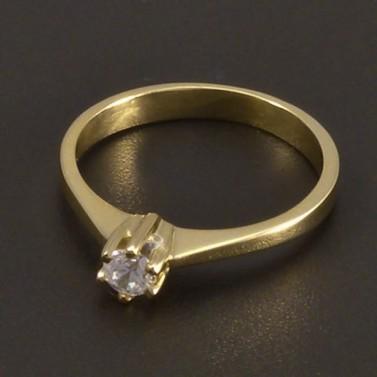 Zlatý prsten se zirkonem 6998 č.1