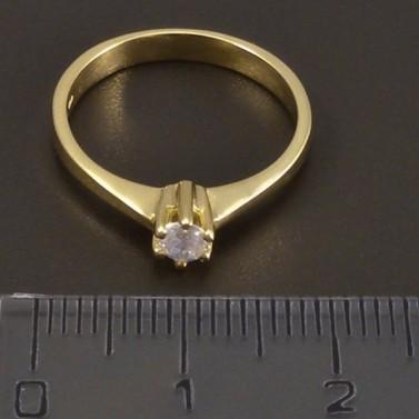 Zlatý prsten se zirkonem 6998 č.2