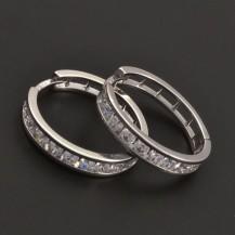 Zirkonové stříbrné kruhy 7066