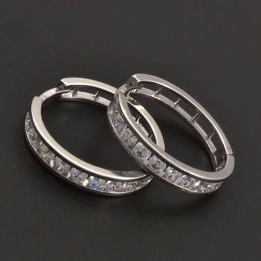 Zirkonové stříbrné kruhy 7066 č.1