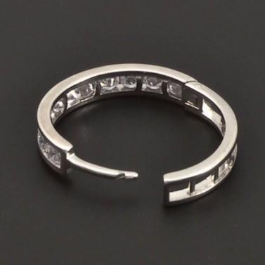 Zirkonové stříbrné kruhy 7066 č.2