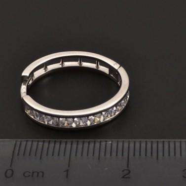 Zirkonové stříbrné kruhy 7066 č.3