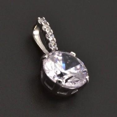 Přívěšek se zirkony stříbro 7075 č.1
