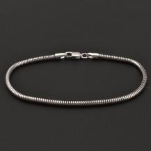 Stříbrný náramek had 7100