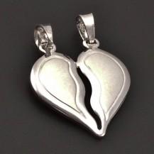 Stříbrné půlící srdce 7128