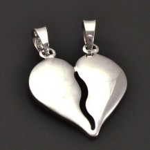 Stříbrné srdce půlící 7164