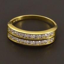 Zirkonový zlatý prsten 7185
