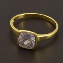 Zásnubní zlatý prsten se zirkonem 7186