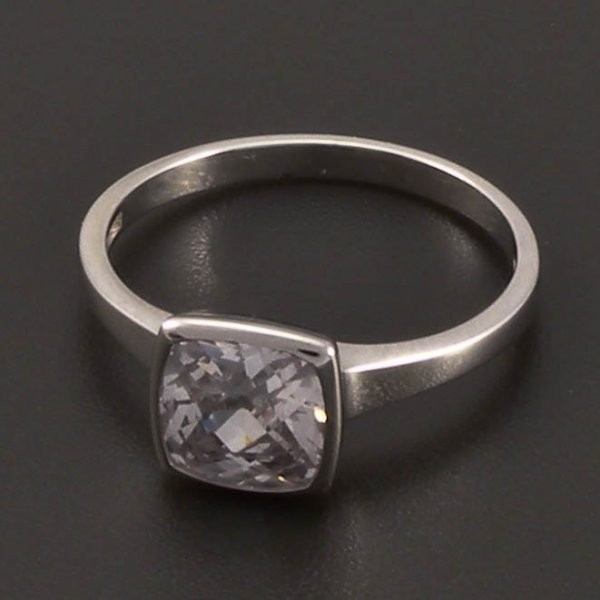 Klasicky Zasnubni Prsten Z Bileho Zlata Goldpoint Cz