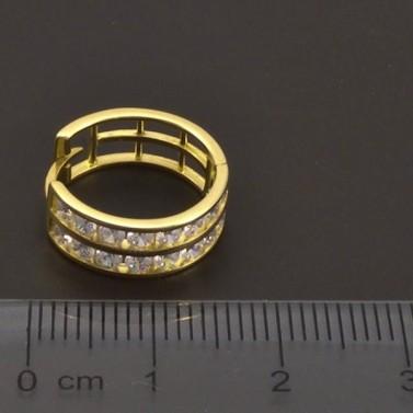 Zlaté kruhy se zirkony 7196 č.3