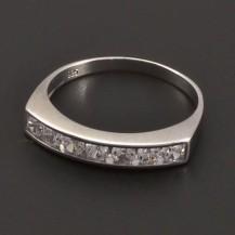 Zirkonový stříbrný prsten 7201