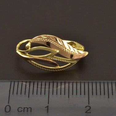 Ručně montované zlaté náušnice 7210 č.3