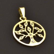 Zlatý přívěs strom života 7221