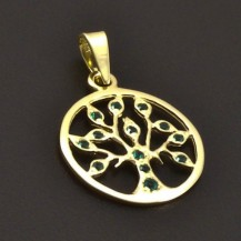 Strom života zlatý přívěs 7222