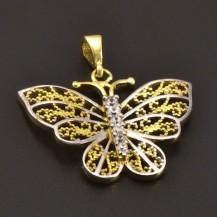 Zlatý přívěs motýl 7224