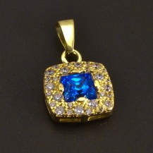 Zlatý přívěs s akvamarinem 7347