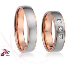 Snubní prsteny z chirurgické oceli 018 William a Kate