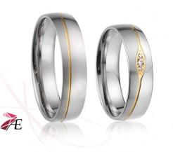 Moderní snubní prsteny 019 Paris a Helena