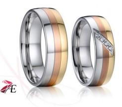 Elegantní snubní prsteny 027 Edward a Bella