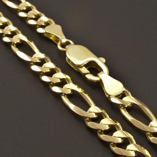 5679bb01c Silný zlatý náramek figaro 7393. Doprava zdarma. Zlatý ...