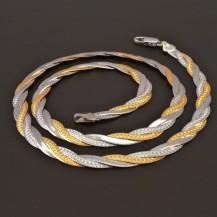 Srříbrný náhrdelník plochý 7410