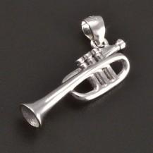 Stříbrný přívěs trumpeta 7444