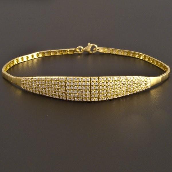 6483a0d9b Elegantní zlatý náramek se zirkony   goldpoint.cz