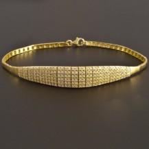 Elegantní zlatý náramek se zirkony 7494
